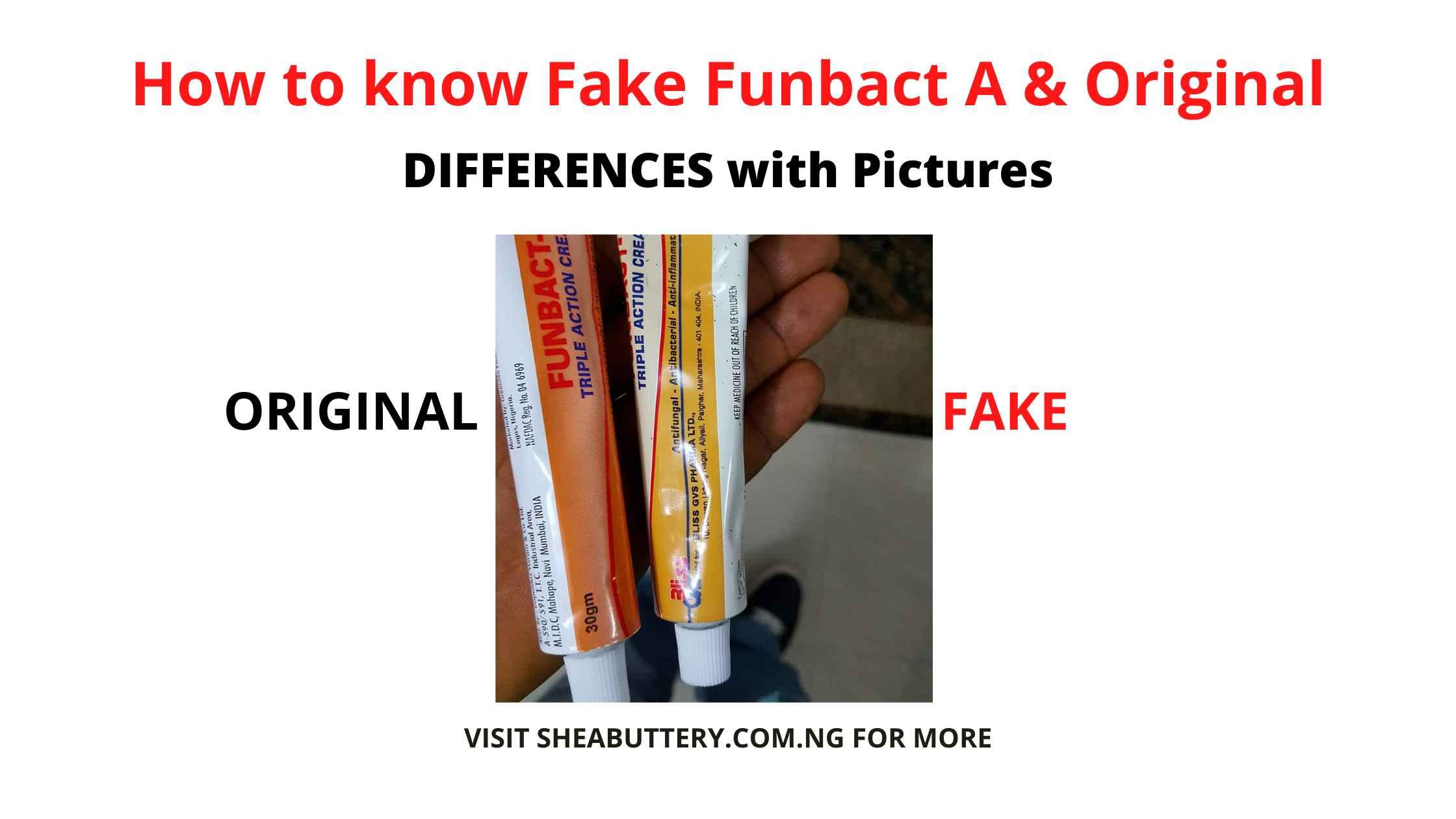 How to know Fake Funbact A & Original